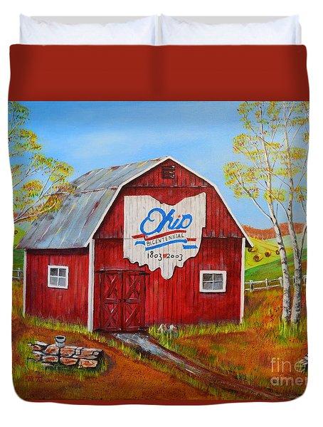 Ohio Bicentennial Barns 2 Duvet Cover