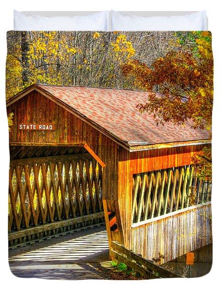 Ohio Country Roads - State Road Covered Bridge Over Conneaut Creek No. 11 - Ashtabula County Duvet Cover