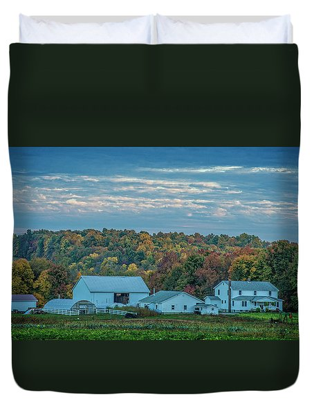 Duvet Cover featuring the photograph Ohio Farm by David Waldrop
