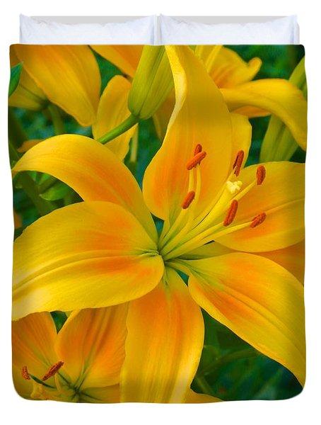 Ohio Lily Duvet Cover