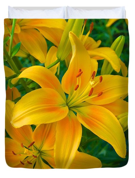 Ohio Lily Duvet Cover
