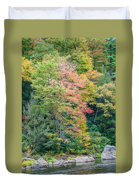 Ohio Pyle Colors - 9709 Duvet Cover by G L Sarti