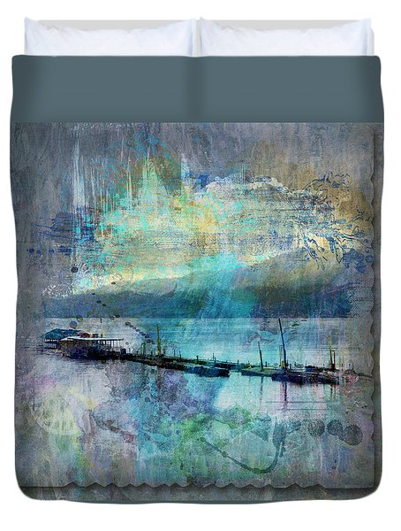 Ohio River Splatter Duvet Cover by Diana Boyd