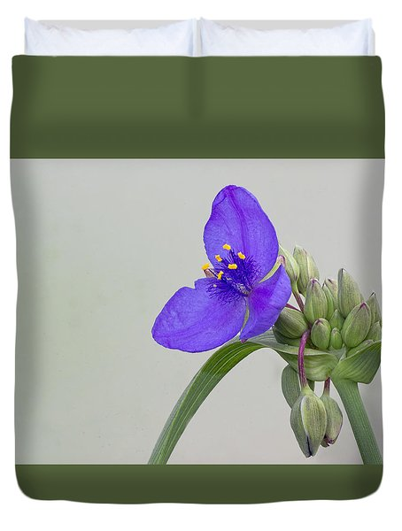 Ohio Spiderwort Duvet Cover