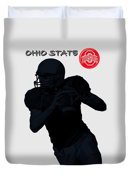Ohio State Football Duvet Cover by David Dehner
