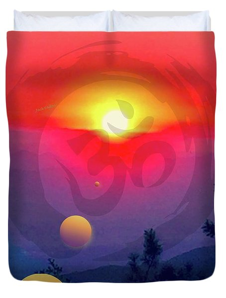Ohm Duvet Cover by Jack Eadon