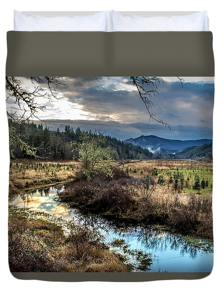 Ohop Creek Duvet Cover