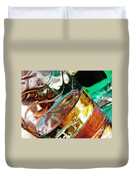 Oil And Water 28 Duvet Cover by Sarah Loft