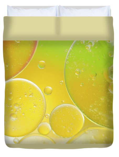 Oil And Water Bubbles  Duvet Cover