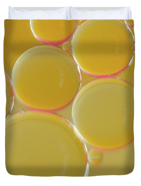 Oil Bubbles On Water Abstract Duvet Cover