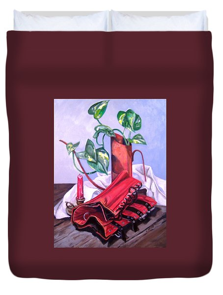 Oil Can And Corset Duvet Cover