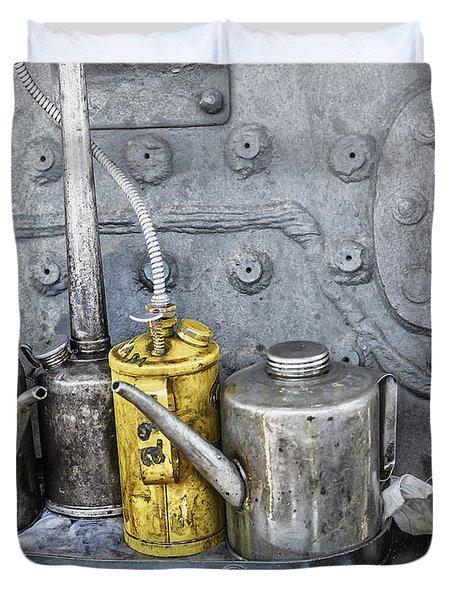 Oil Cans Duvet Cover