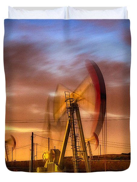 Oil Rig 1 Duvet Cover