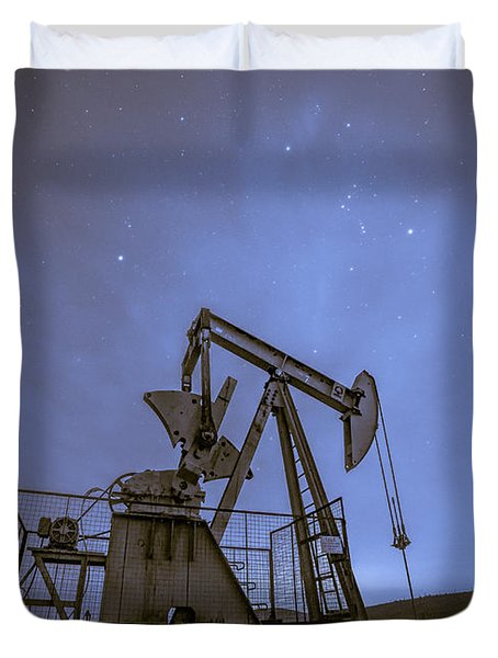 Oil Rig And Stars Duvet Cover