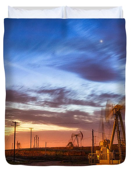 Oil Rigs 3 Duvet Cover