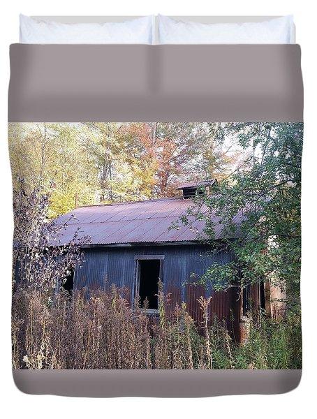 Oil Shed Duvet Cover