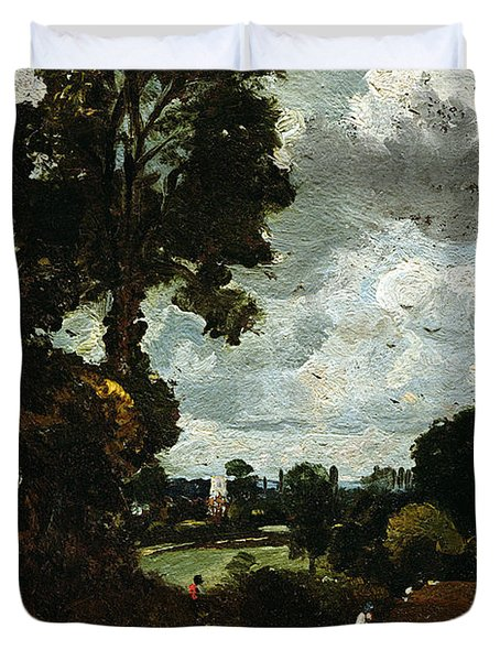 Oil Sketch Of Stoke-by-nayland Duvet Cover by John Constable