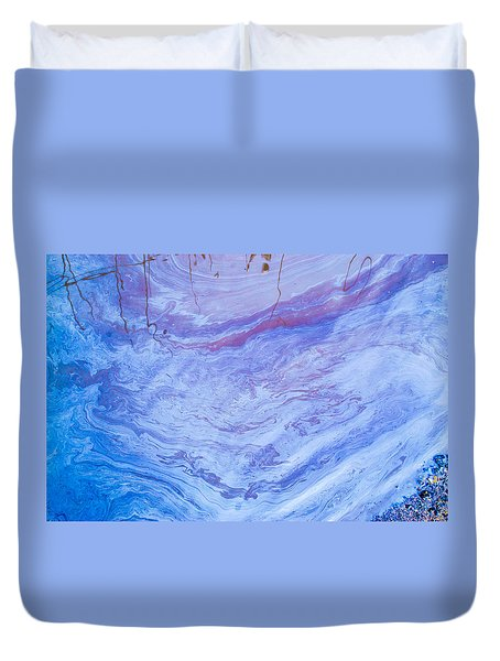 Oil Spill On Water Abstract Duvet Cover
