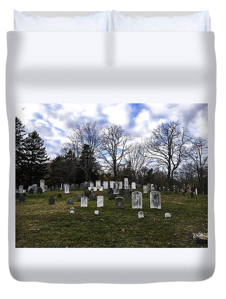 Old Town Cemetery Sandwich, Massachusetts Duvet Cover