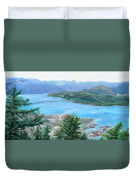 Okanagan Blue Duvet Cover