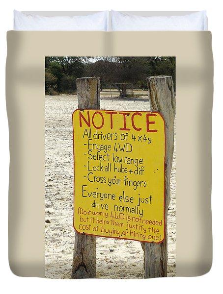 Okavango Humor Duvet Cover