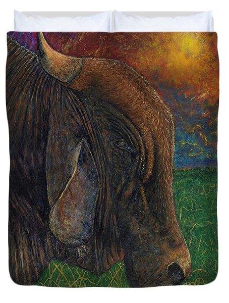 Okeechobee Brahman Duvet Cover by David Joyner