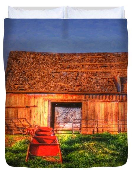 Oklahoma Barn Duvet Cover