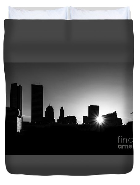 Duvet Cover featuring the photograph Oklahoma City by Betty LaRue