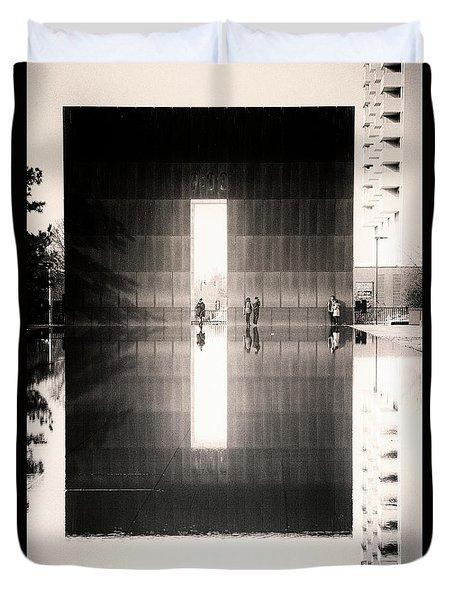 Oklahoma City Memorial Duvet Cover