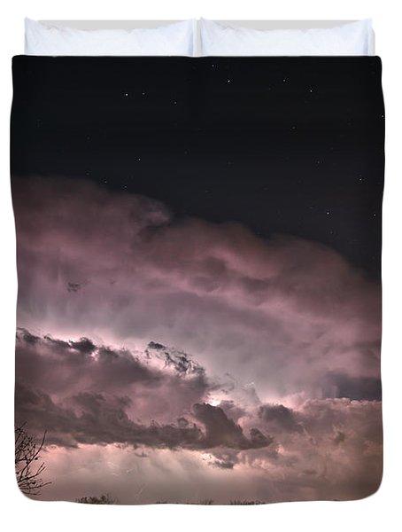 Oklahoma Sky Of Fire Duvet Cover