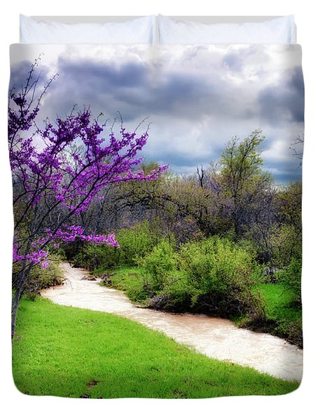Oklahoma Spring Storm Duvet Cover