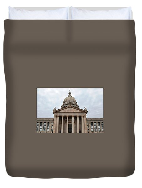 Oklahoma State Capitol - Front View Duvet Cover by Matt Harang