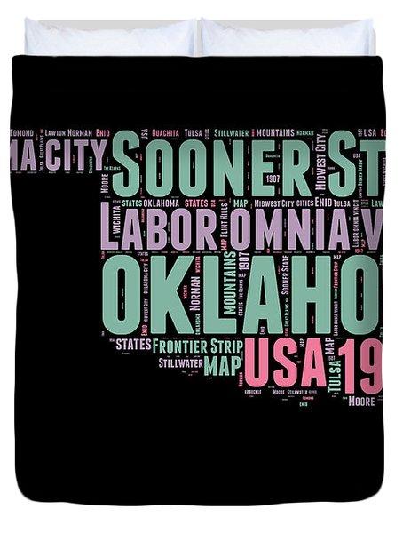 Oklahoma Word Cloud 1 Duvet Cover