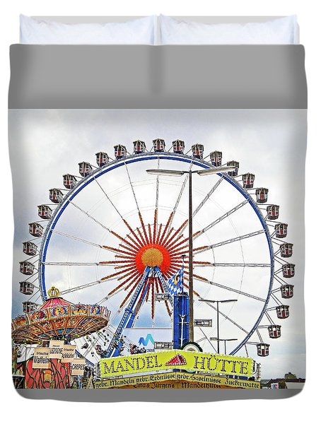 Oktoberfest 2010 Munich Duvet Cover by Robert Meyers-Lussier