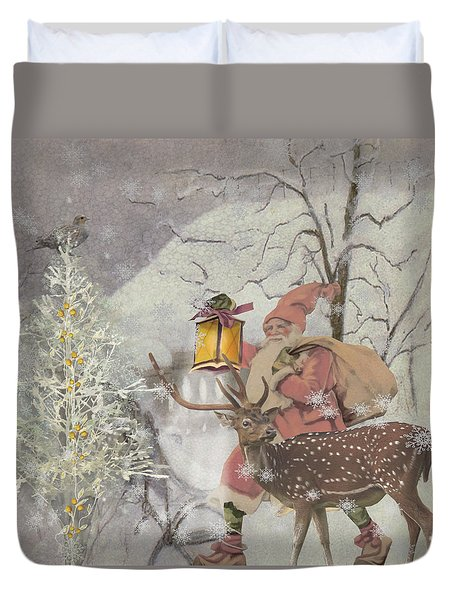 Ol' Saint Nick Duvet Cover by Diana Boyd