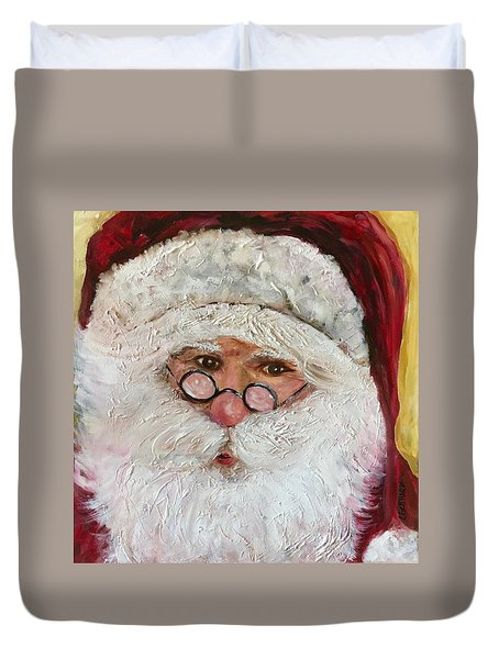 Magical O'l St. Nick Duvet Cover