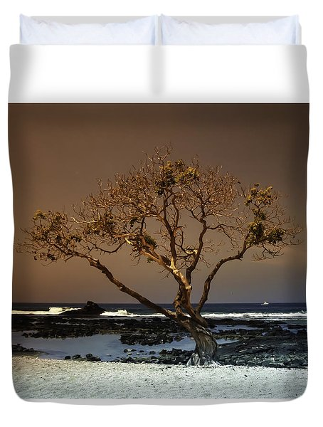 Old A Beach Duvet Cover