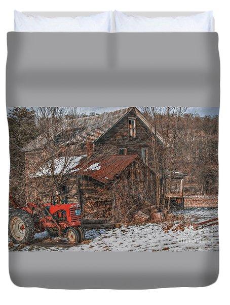 Old Abandoned Farm Homestead Duvet Cover