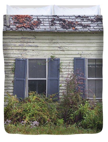 Old Abandoned House Croydon New Hampshire Duvet Cover