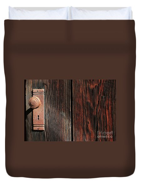 Old Amboy Grange Door  Duvet Cover