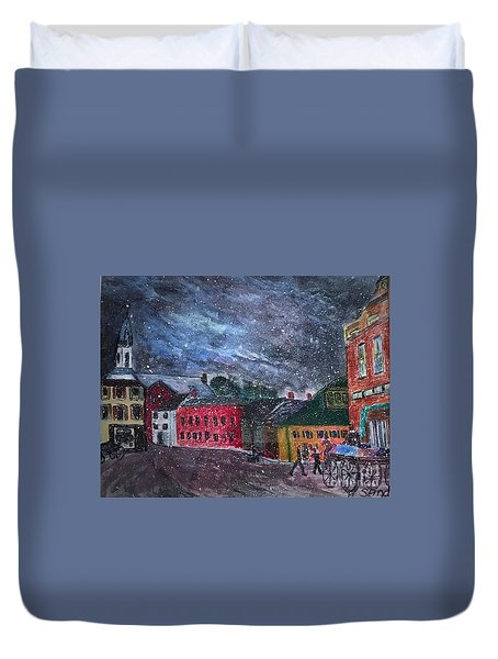 Old Amesbury Early Winter Duvet Cover