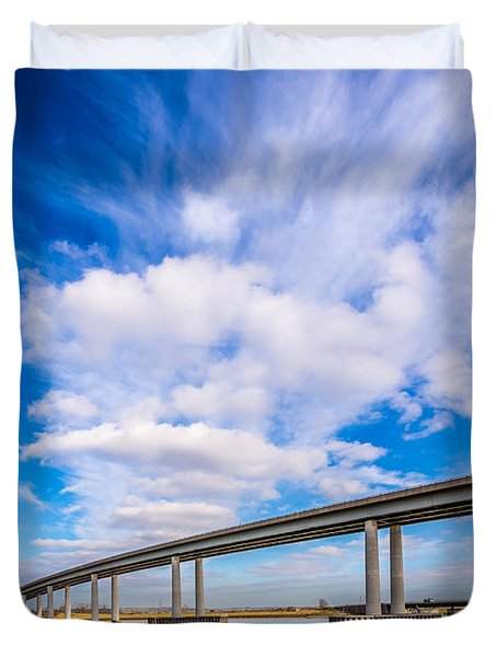 Old And New Bridges Duvet Cover