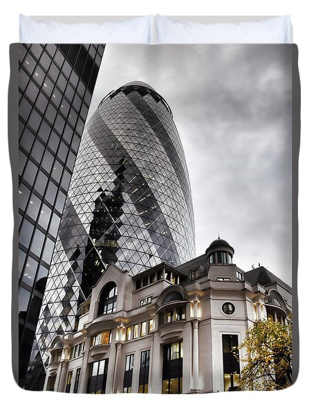 Old And New London Duvet Cover