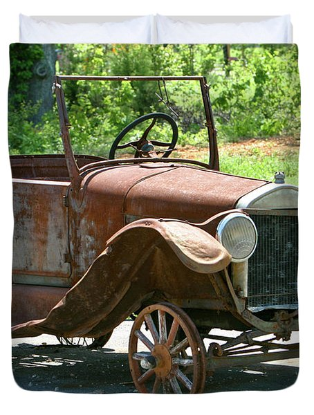 Old Antique Vehicle Duvet Cover by Douglas Barnett
