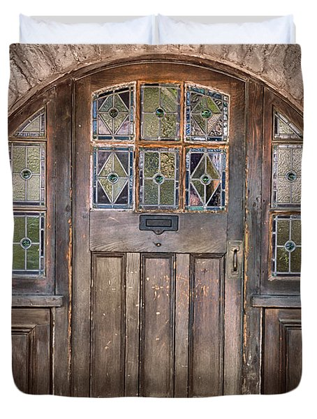 Old Archway And Door Duvet Cover by Sandra Bronstein