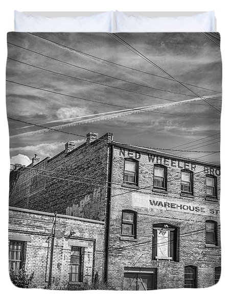 Old Asheville Building Duvet Cover