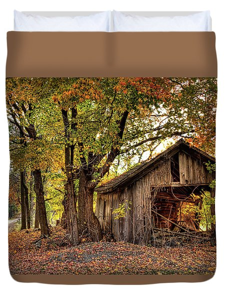 Old Autumn Shed Duvet Cover