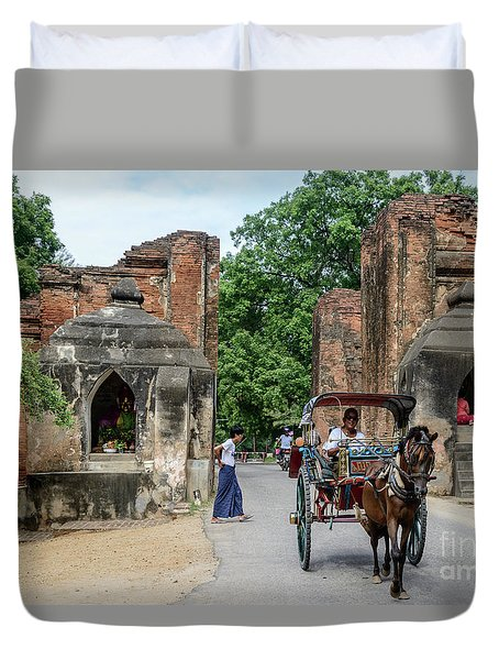 Old Bagan Duvet Cover