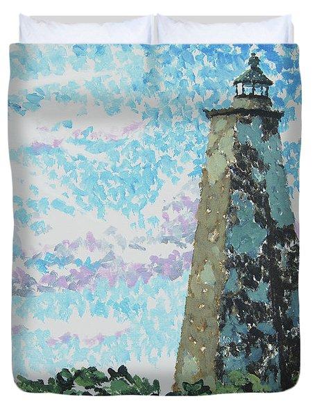 Old Baldy Lighthouse Duvet Cover