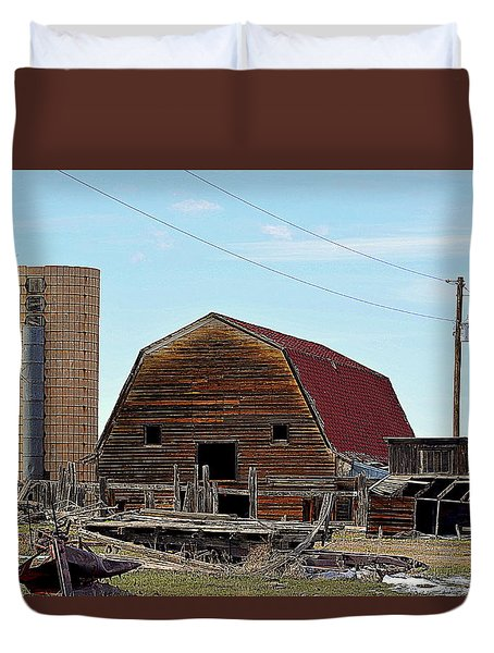 Old Barn Duvet Cover by Clarice  Lakota